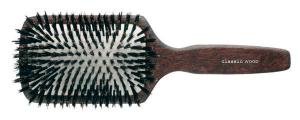 Spazzola quadrata in legno con setole di cinghiale-0